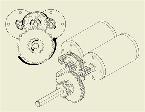 make a blue print understanding motor and gearbox design