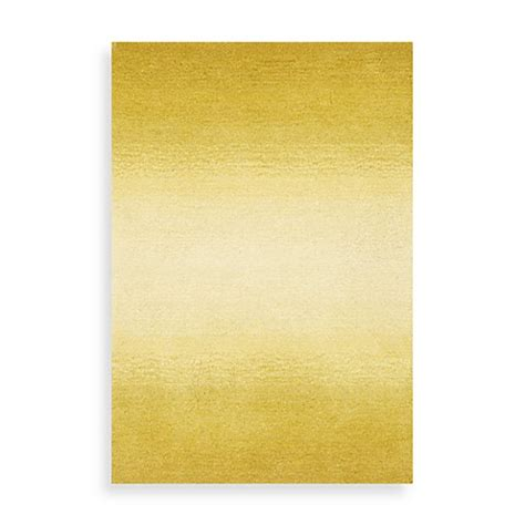 Ombre Bath Rug Trans Ombre Horizon Area Rug In Yellow Bed Bath Beyond