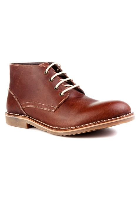 brown leather casual shoes rts7132