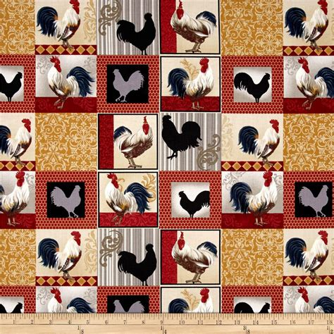 Patchwork Fabric Wholesalers - rooster inn patchwork multi discount designer fabric