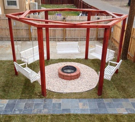 swing pit plans how to build a hexagonal swing with sunken pit diy