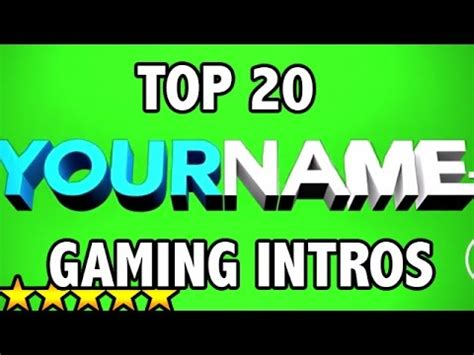 Best Top 20 Free 3d Gaming Intro Templates After Effects Sony Vegas Cinema 4d Youtube Gaming Intro Template After Effects