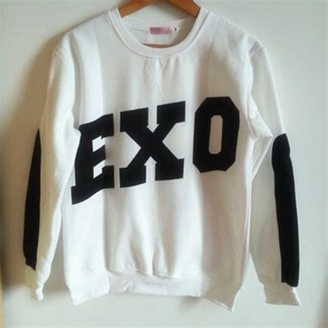 Zipper Hoodie Sweater Exo Kpop aesthetic official kpop exo sbs sweater exo m exo k hoodies xiumin 99 m
