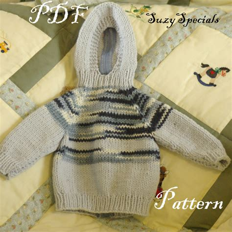 knitting pattern zippered cardigan pattern for knitted hooded baby sweater with back zipper pdf