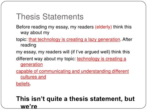 technology thesis statement thesis statements