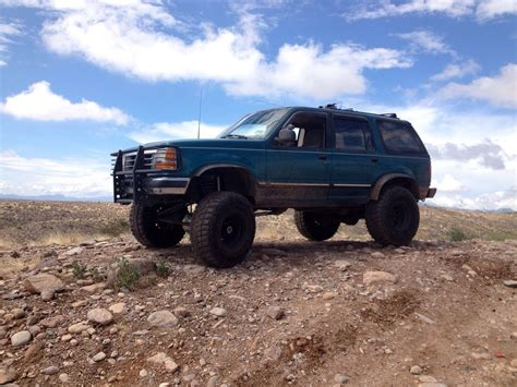 ford on road custom lifted 94 ford explorer road truck classic