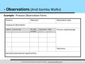 observations and gemba walks