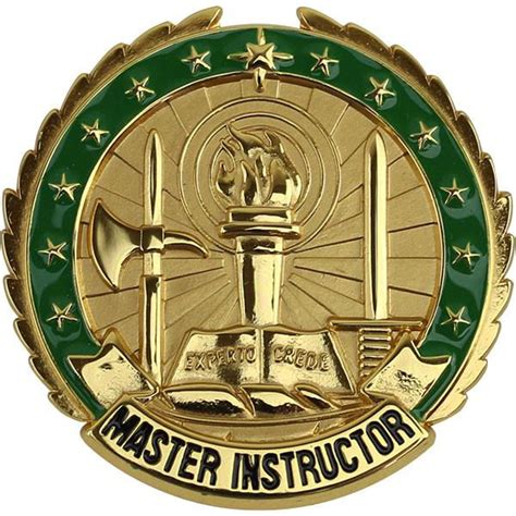 Army Rack Builder With Badges by Army Identification Badge Master Instructor Gold Vanguard