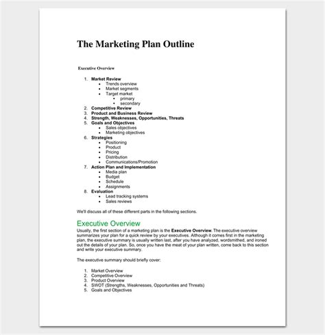 easy marketing plan template marketing plan outline template 16 exles for word
