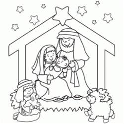 nativity coloring page free coloring pages of bible nativity