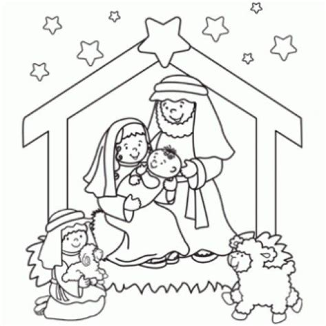 Printable Nativity Coloring Pages Online Christmas Nativity Printables