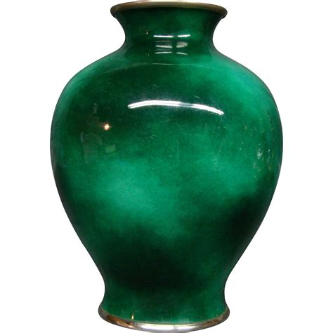 unusual vases unusual japanese cloisonne green sponge vase from