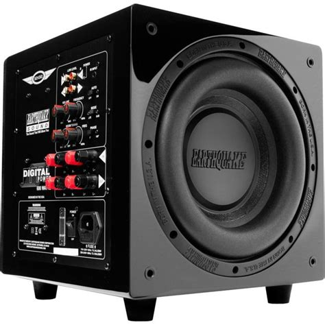 earthquake  powered subwoofer  class  black piano