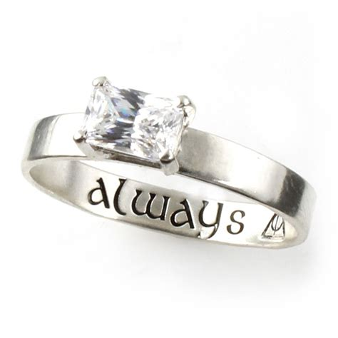harry potter quot always quot deathly hallows engagement ring