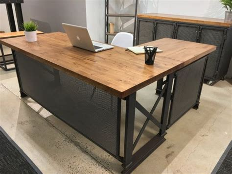 executive carruca office desk  shape diy collection industrial office desk industrial