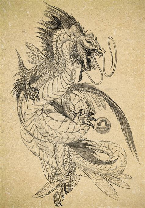 Tattoo Sketch Dragon | sketch of dragon tattoo by archspirigvit on deviantart