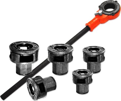 Plumbing Pipe Threader by 5pc Pipe Threader Set With 1 4 Quot To 1 Quot At Arizona Tools