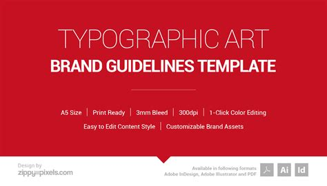 Typographic Art Brand Guidelines Template On Behance Brand Guidelines Template Illustrator