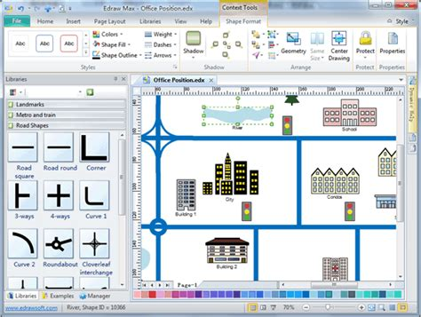 software map drawing free directional map software draw directional map easily