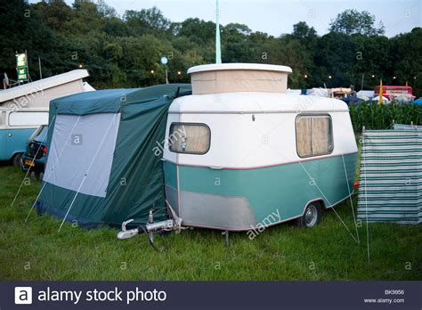 small caravan very old very small caravan stock photo royalty free