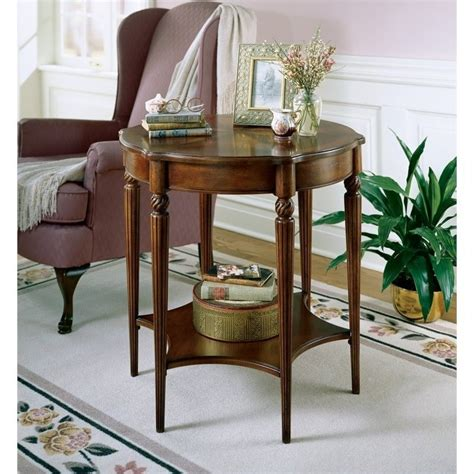 cherry wood accent table butler specialty plantation cherry wood accent table 0557024