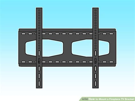 can you mount a tv a fireplace how to mount a fireplace tv bracket 7 steps with pictures