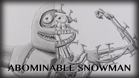 how to draw the rudolph abominable snowman drawing the abominable snowman yeti a villain time lapse