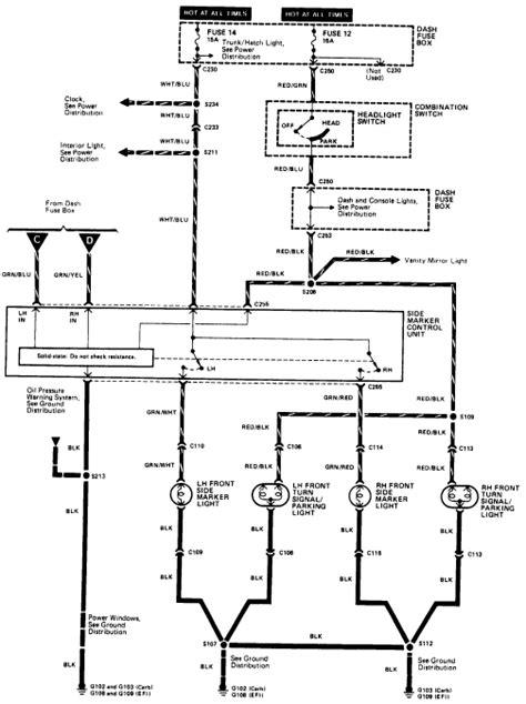 1985 honda accord indicator running lights parking lights