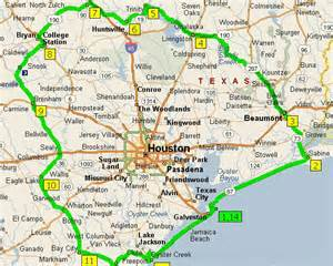 Suburbs Of Tx Houston Area Map