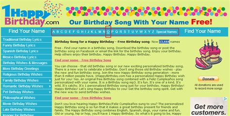 free download personalized happy birthday song with name