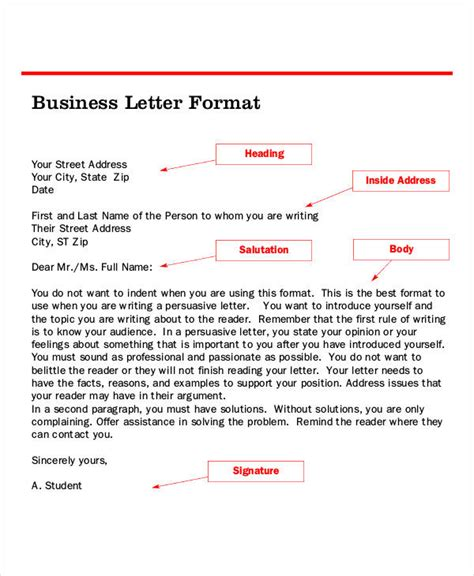 business letter formatting guidelines letter format 39 free word pdf documents