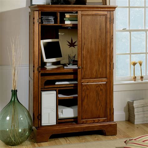 Computer Desk Armoire by Small Computer Cabinet Compact Computer Desk With Hutch