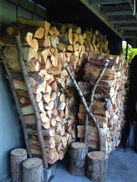 diy firewood rack cinder block home crafted wood racks using cinder blocks and tree limbs