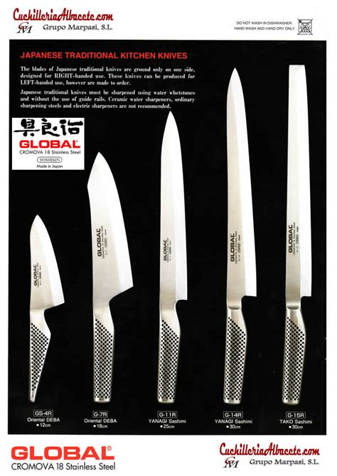 Japanese Kitchen Knives Global Gs 4r Japanese Traditional Kitchen Knives Global