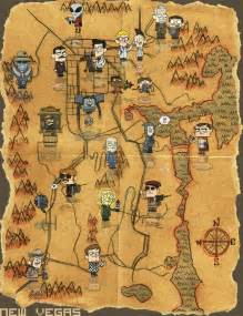 Map Of Fallout New Vegas by Fallout New Vegas Map Is Not To Scale But Fit For A Poster
