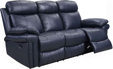 power recliner sofa shae joplin blue leather power reclining sofa from luxe