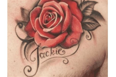 rose name tattoos designs tattoos for 16 masculine collections design press