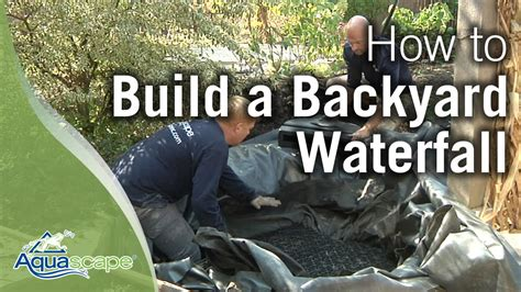 how to build a pond in backyard how to build a backyard waterfall youtube