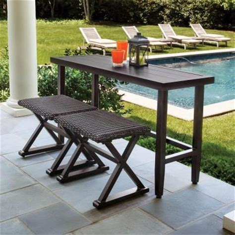 hton bay woodbury 3 patio console set