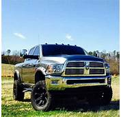 Lifted Chrome Silver Dodge Ram Truck Definitely My High