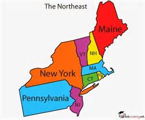United states northeast region map for kids