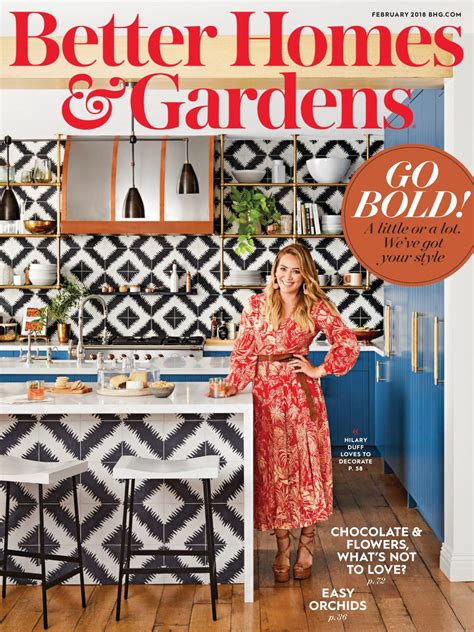 hilary duff in better home and gardens magazine february