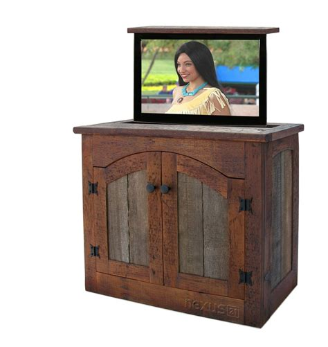 Rustic Tv Cabinet by Custom Made Rustic Tv Lift Cabinet Small By Custom