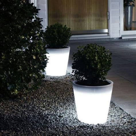 Glowing Planter Pots by Glow Flower Pots Home Garden