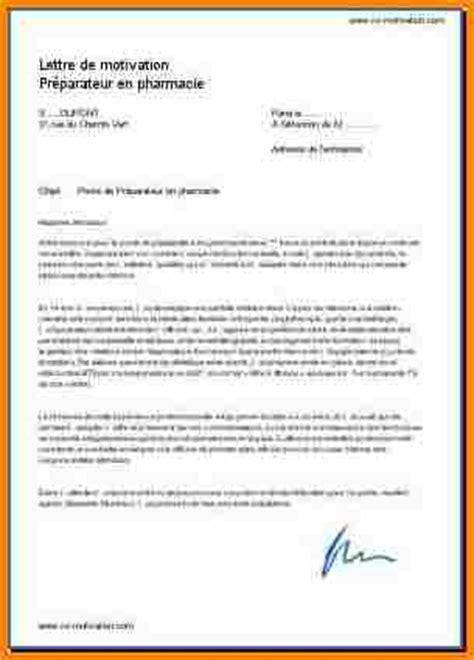 Lettre De Motivation Vendeuse En Pharmacie Gratuite 5 lettre de motivation pr 233 parateur en pharmacie modele