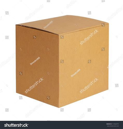 square cardboard box stock images image 29889354 square cardboard box on a white background stock photo