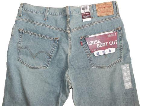mens low rise boot cut new levis 567 s low rise boot cut blue denim