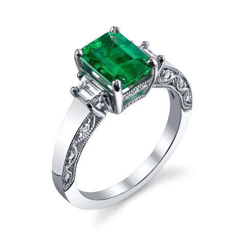 emerald cut emerald ring 1005gr gemstone rings