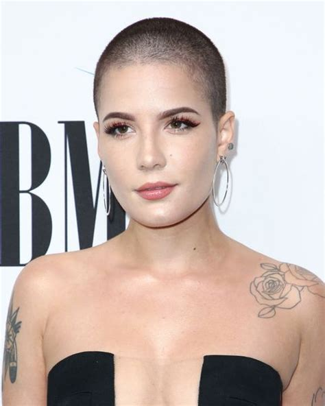 female celebrities   shaved head    buzz