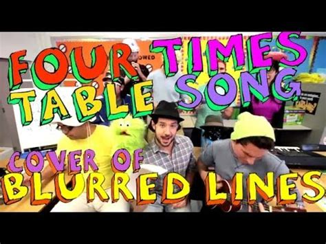 4 Times Table Song by Four Times Table Song Blurred Lines Cover With Classroom